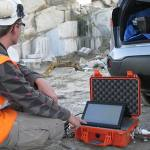 Data collection in a quarry.