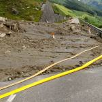 Debris flow landslide on the A83