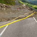 Debris flow on A83