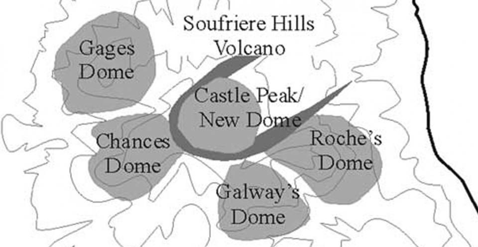 Soufrière Hills old lava domes