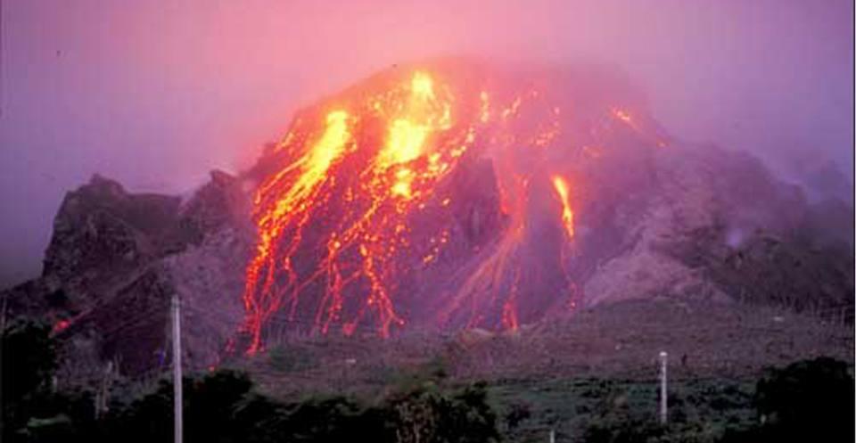 Effusive andesitic lava dome, Montserrat