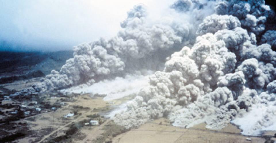 Pyroclastic flow dome collapse, Montserrat