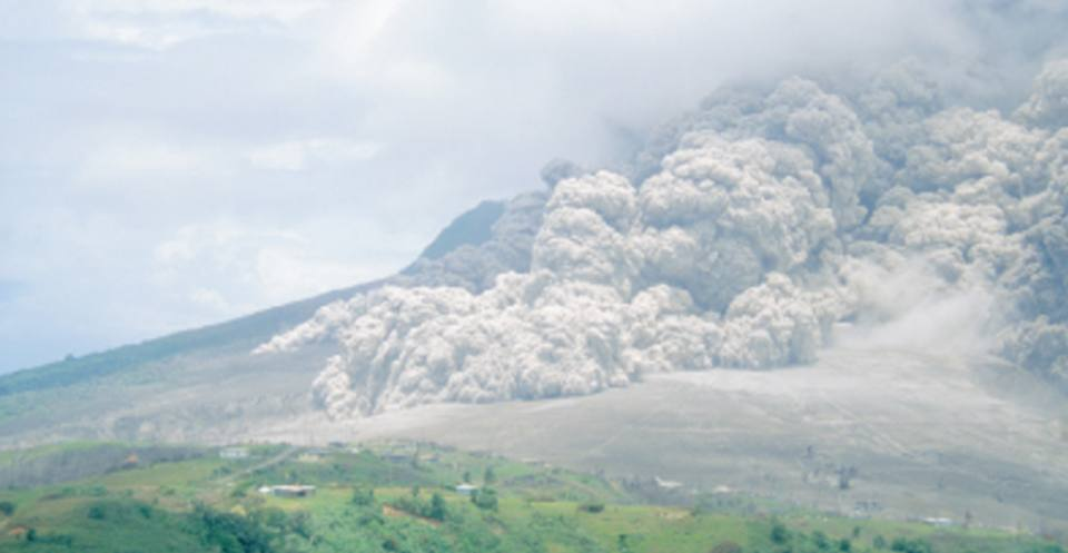 Pyroclastic flow by fountain collapse, Montserrat