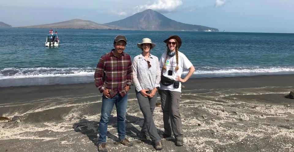 Fieldwork at the Krakatau islands