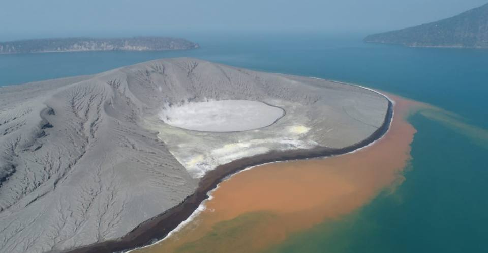 Drone imagery of Anak Krakatau
