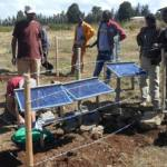 BGS and IGSSA staff install a seismic station
