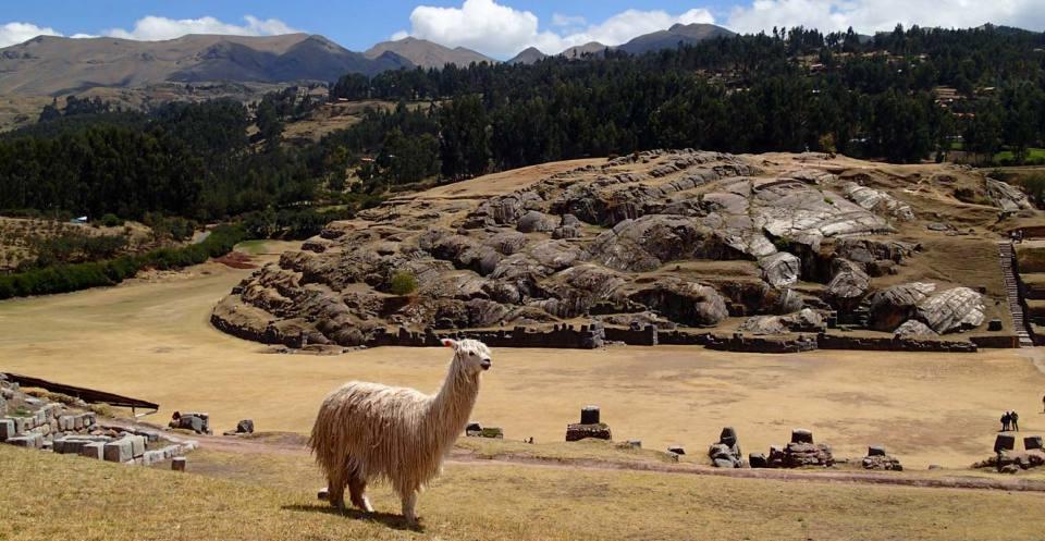 Incan ruins - active normal fault.