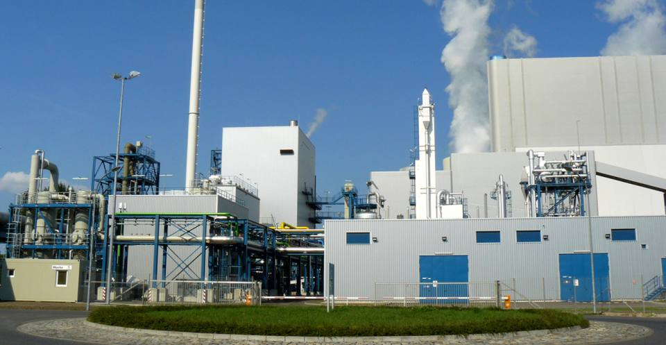 Oxyfuel combustion plant at Schwarze Pumpe, Germany.