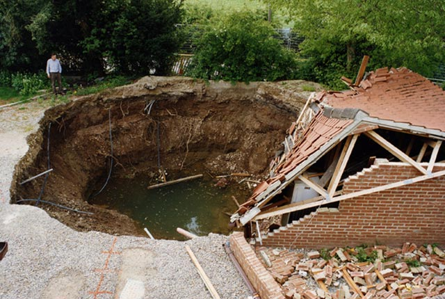 Sinkhole in Ripon, Yorkshire