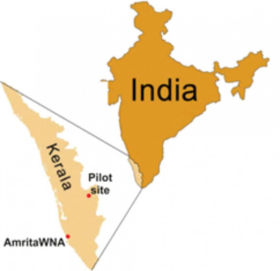 Location map of AmritaWNA site