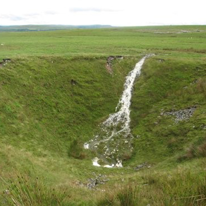 Solution sinkhole, South Wales