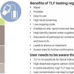 TLF testing offers a rapid, portable, easy-to-use method of undertaking high-level screening of water supplies and identifying higher risk sites for further investigation.