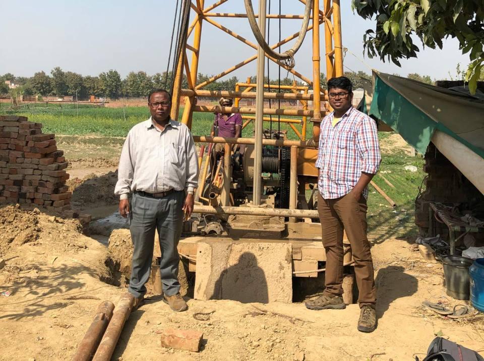 Groundwater monitoring wells in Varanasi