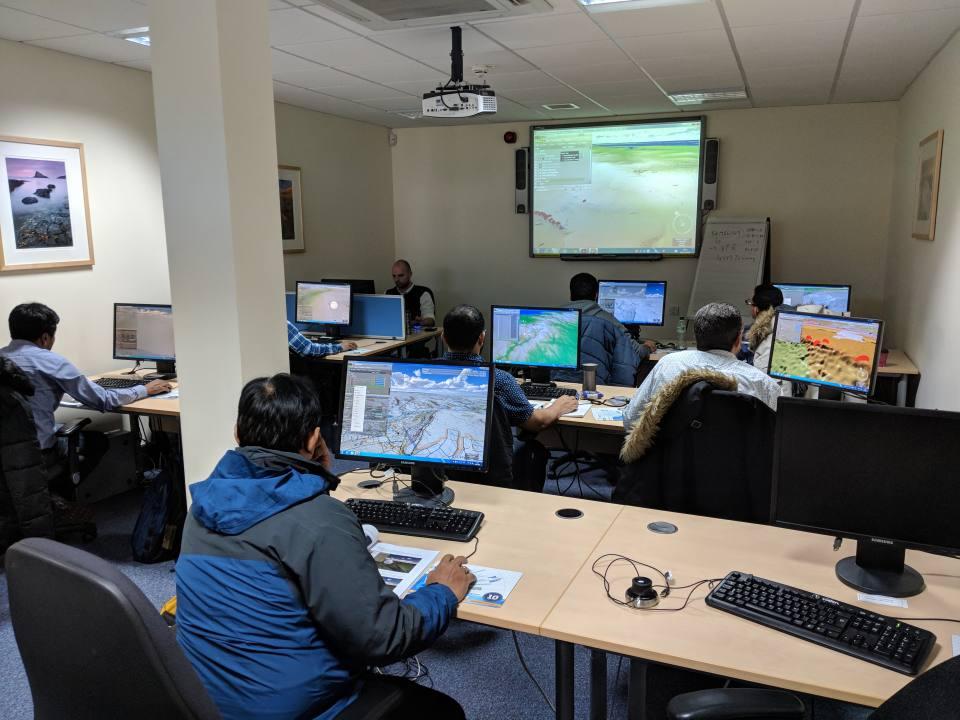 GeoVisionary training in the BGS classroom
