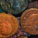 Roman coins made from copper