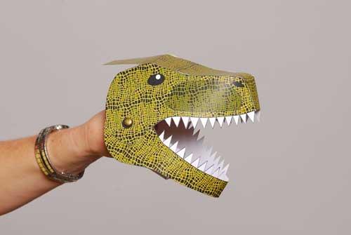 Completed tyrannosaurus rex model.
