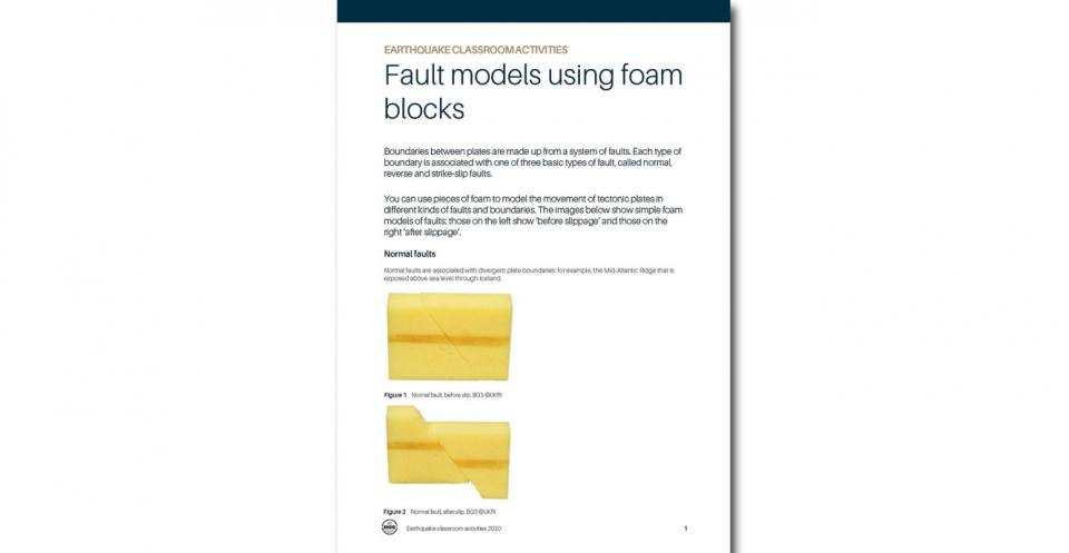 You can use pieces of foam to model the movement of tectonic plates in different kinds of faults and boundaries.
