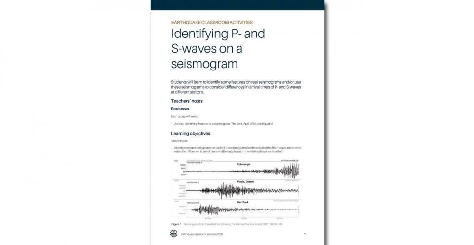 Students will learn to identify some features on real seismograms and/or use these seismograms to consider differences in arrival times of P- and S-waves at different stations.