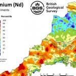 SW England REE stream sediment sample. BGS © UKRI – Contains OS data © Crown copyright 2020.