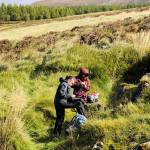 BGS Geologists examining rare earth rich-rocks in north-west Scotland.