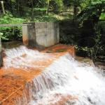 Mine water discharge