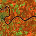 Terrain analysis created from Sentinel image