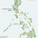 A map of the Philippines showing the locations of Pampagna Province and Iloilo City