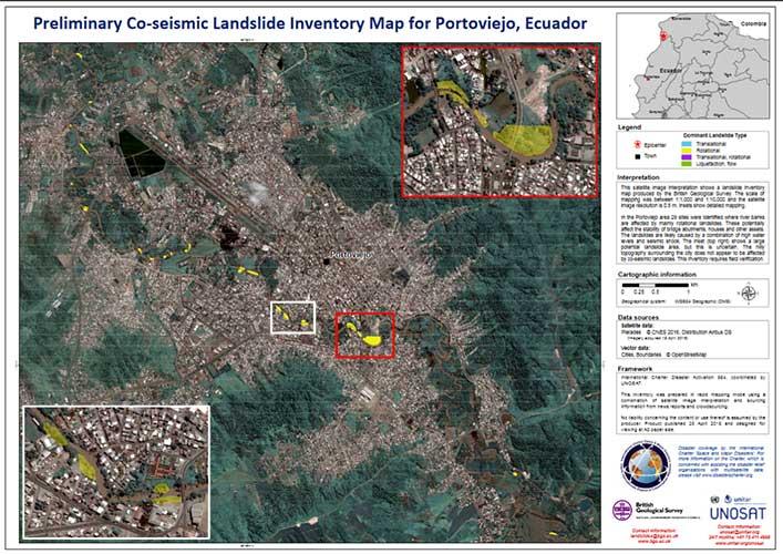 A map of co-seismic landslides in Ecuador