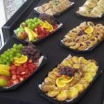 Platters of buffet food