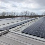 solar panel array at BGS Core Store